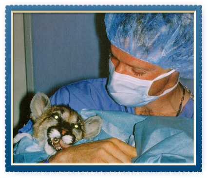 Dr. Epstein with Lion Cub